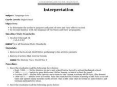 Interpretation Lesson Plan