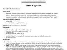 Time Capsule - Jewish Children In Concentration Camps Lesson Plan