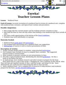 Medieval Feast Lesson Plan