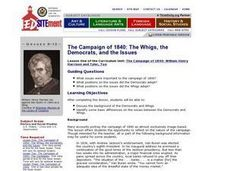 The Campaign of 1840: The Whigs, the Democrats, and the Issues Lesson Plan