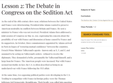 Lesson 2: The Debate in Congress on the Sedition Act Lesson Plan