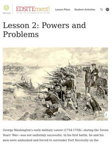 What Made George Washington a Good Military Leader? Powers and Problems Lesson Plan