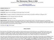 The Throwaway Three: A Skit Lesson Plan