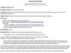 School Food Waste Lesson Plan