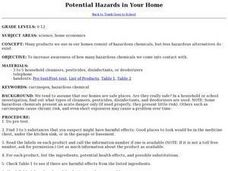 Potential Hazards in Your Home Lesson Plan