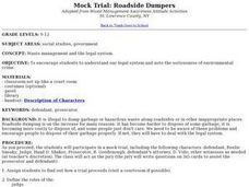 Mock Trial: Roadside Dumpers Lesson Plan