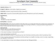 Investigate Your Community Lesson Plan