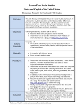 States and Capitals of the United States Lesson Plan