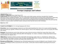 Foreign Language and Culture Lesson Plan