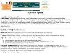 Symbolic Speech Lesson Plan