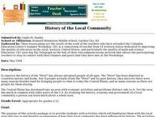 History of the Local Community Lesson Plan