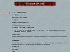 Cooperation Game Lesson Plan