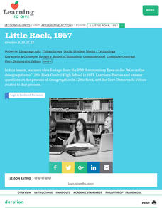 Little Rock, 1957 Lesson Plan