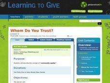 Whom Do You Trust? Lesson Plan