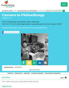 Philanthropy is Everywhere Lesson 4:  Careers in Philanthropy Lesson Plan