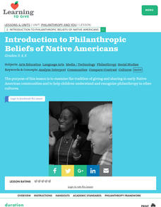 Philanthropy and Native Americans Lesson Plan