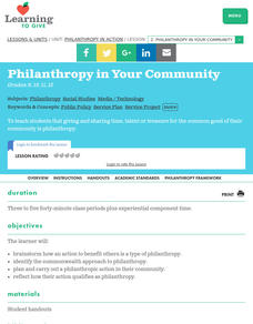 Philanthropy in Your Community Lesson Plan