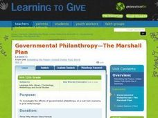 Governmental Philanthropy-The Marshall Plan Lesson Plan