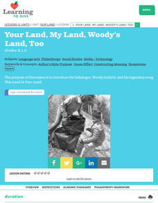 Your Land, My Land, Woody's Land, Too Lesson Plan