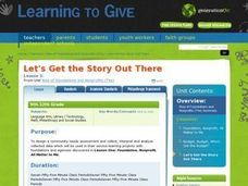 Lets Get the Story Out There Lesson Plan