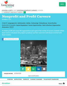 Nonprofit and Profit Careers Lesson Plan