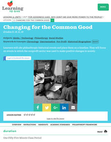 Changing for the Common Good Lesson Plan