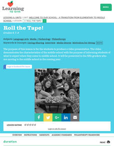 Roll The Tape! Lesson Plan