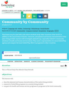 Community by Community Lesson Plan
