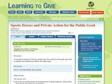 Sports Heroes and Private Action for the Public Good Lesson Plan