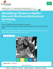 Identifying Themes in Spider-Man and the Seven Motivations for Giving Lesson Plan