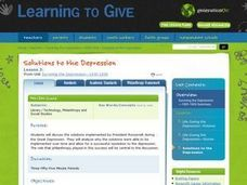 Surviving the Depression- 1930-1939 Lesson 3: Solutions to the Depression Lesson Plan