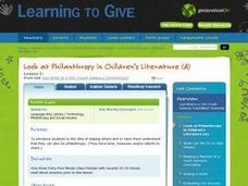 Look at Philanthropy in Children's Literature Lesson Plan