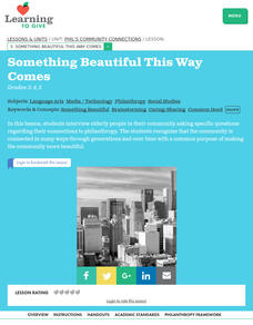 Something Beautiful This Way Comes Lesson Plan