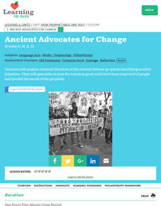 How Prophet-able Are You?  Ancient Advocates for Change Lesson Plan