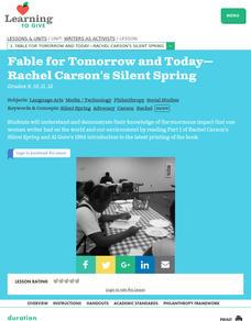 Lesson Plans Silent Spring