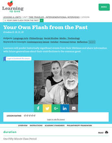 Your Own Flash From the Past Lesson Plan