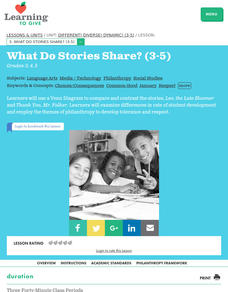 Different! Diverse! Dynamic! What Do Stories Share? Lesson Plan