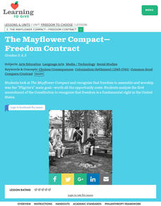The Mayflower Compact-Freedom Contract Lesson Plan