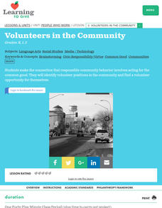 Volunteers in the Community Lesson Plan