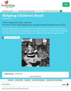 Helping Children Read Lesson Plan