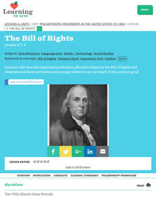 Philanthropic Movements in the United States To 1900: The Bill of Rights Lesson Plan