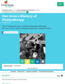 Our Area's History of Philanthropy Lesson Plan
