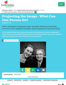 Projecting the Image -- What Can One Person Do? Lesson Plan