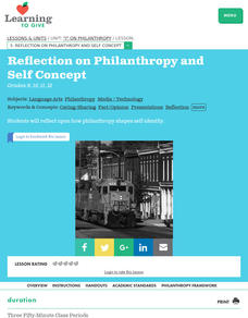 Reflection on Philanthropy and Self Concept Lesson Plan