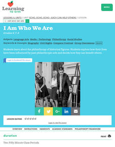 I Am Who We Are Lesson Plan