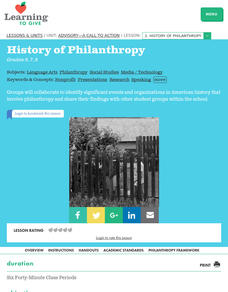 History of Philanthropy Lesson Plan