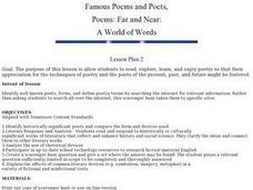 Famous Poems and Poets Lesson Plan