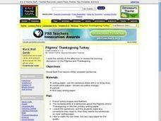 Pilgrims' Thanksgiving Turkey Lesson Plan