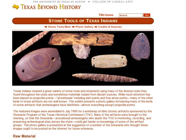 Stone Tools of Texas Indians Lesson Plan