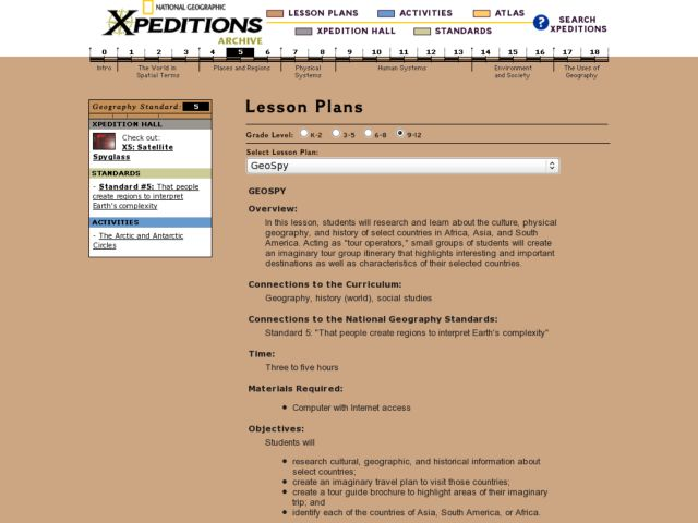 Geospy Lesson Plan